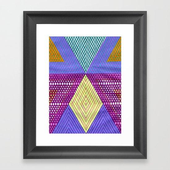 Isometric Harlequin #9 Framed Art Print