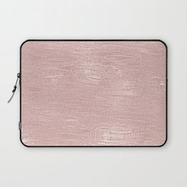 Metallic Rose Gold Blush Laptop Sleeve
