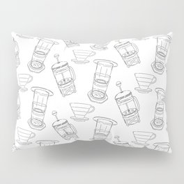 Coffee Brewing Pattern Pillow Sham