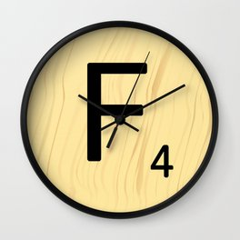 Scrabble F Decor, Scrabble Art, Large Scrabble Prints, Word Art, Accessories, Apparel, Home Decor Wall Clock