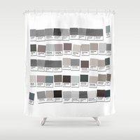 lawyer Shower Curtains featuring 50 Things That are Shades of Gray by Gigglebox