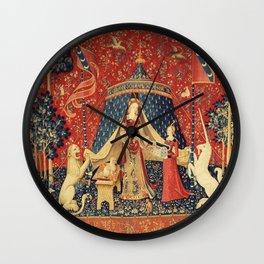 Lady and Unicorn Wall Clock