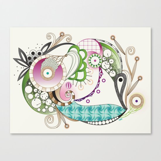 Autumn tangle, sienna - purple color set Canvas Print
