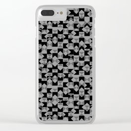 Checkers Clear iPhone Case