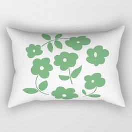 Green Poppies Rectangular Pillow