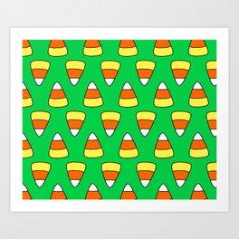 Green Candy Corn Art Print