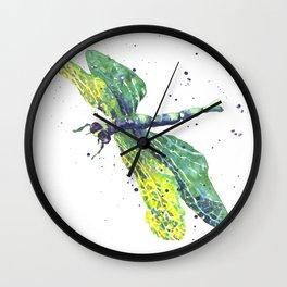 Dragonfly - Green Goddess Wall Clock