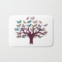 Butterflies tree Bath Mat