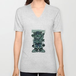 Boyhood Style Norwegian Forest Illustration Unisex V-Neck