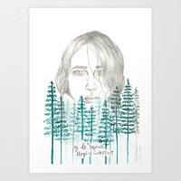 WINTER WOMAN Art Print