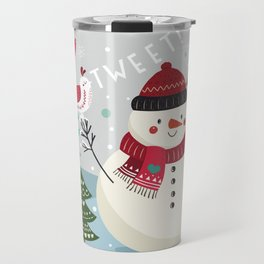 The Sweet Song Of Winter Friends Travel Mug