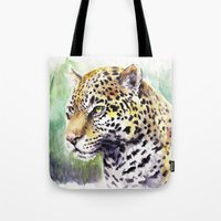 jaguar Tote Bags featuring Jaguar by Juan Pablo Cortes