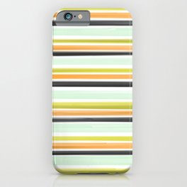 80s stripe iPhone Case