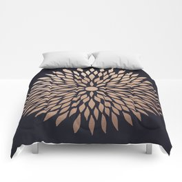 Rose Gold Flower Comforters