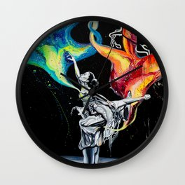 Ballerina two (The two ballet dancer and the two deer) Wall Clock