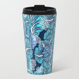 blue winter cabbage Travel Mug