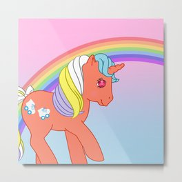 g1 my little pony Speedy Metal Print