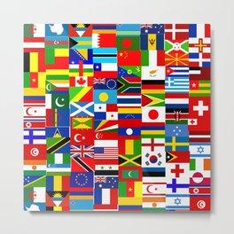 Flag Montage Metal Print