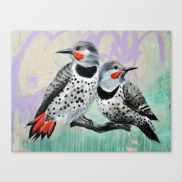 Northern Flickers Canvas Print