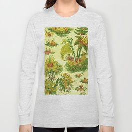 Chartreuse Chinoiserie Long Sleeve T-shirt