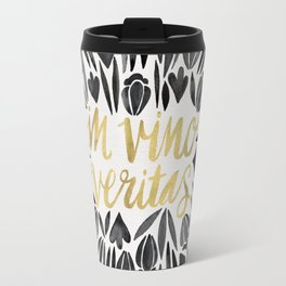In Wine, There is Truth – Black & Gold Travel Mug