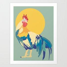 Rooster Rising Art Print