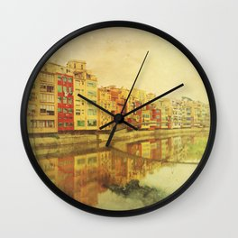 The river that reflects the city Wall Clock