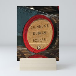 Guinness beer barrel - great man cave art! Mini Art Print