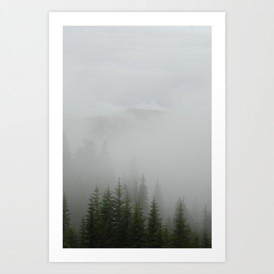 Foggy Trees Art Print