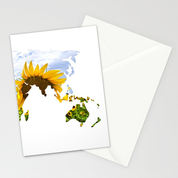 World of Sunflowers Stationery Cards