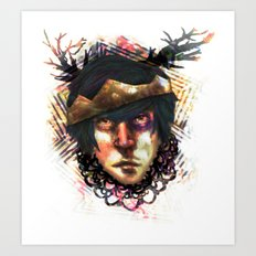Gleam Diamond Punk King Art Print