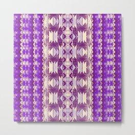 purple aztec Metal Print