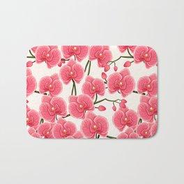 pink orchids Bath Mat