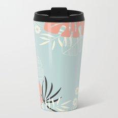 Tropical pattern 043 Metal Travel Mug