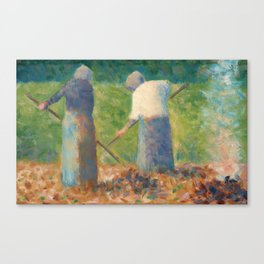 Georges Seurat Haymakers at Montfermeil Canvas Print