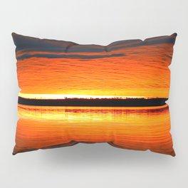Lakeside Sunset Reflection Pillow Sham