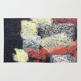 Multicolor abstract black Rug