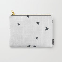 Ravens Birds in Black and White Carry-All Pouch
