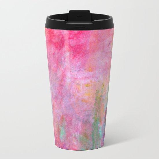 Wild Roses Metal Travel Mug