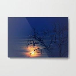 Penumbral Lunar Rising Metal Print