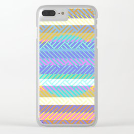 Weaving - golden and blue Clear iPhone Case