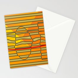 Distorted golden/yellow Stationery Cards