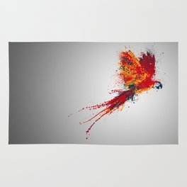 Colorfull parrot Rug