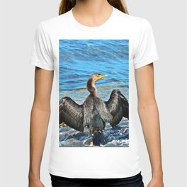 Cormorant Watches the Watcher T-shirt