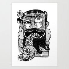 bruno is my enemy Art Print