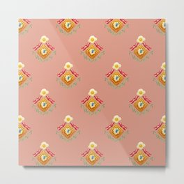 Waffles and Bacon (Pretty in Pink) Metal Print