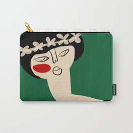 Girl with flower crown Carry-All Pouch
