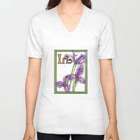 iris V-neck T-shirts featuring Iris by Ken Coleman
