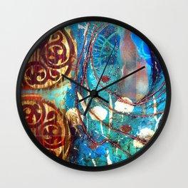 Midnight Moon Feline Wall Clock