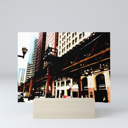 Chicago 'L' art print - Chicago L, Chicago EL - industrial urban photo - downtown Chicago CTA Mini Art Print